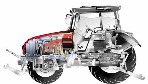 Motore del trattore